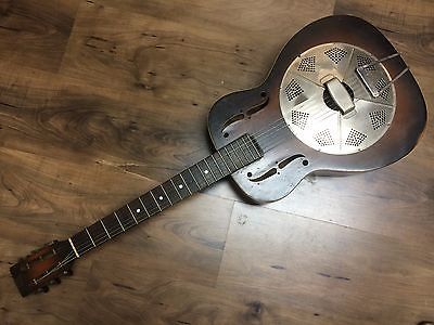national trojan resophonic guitar vintage early 30s resonator dobro. Black Bedroom Furniture Sets. Home Design Ideas