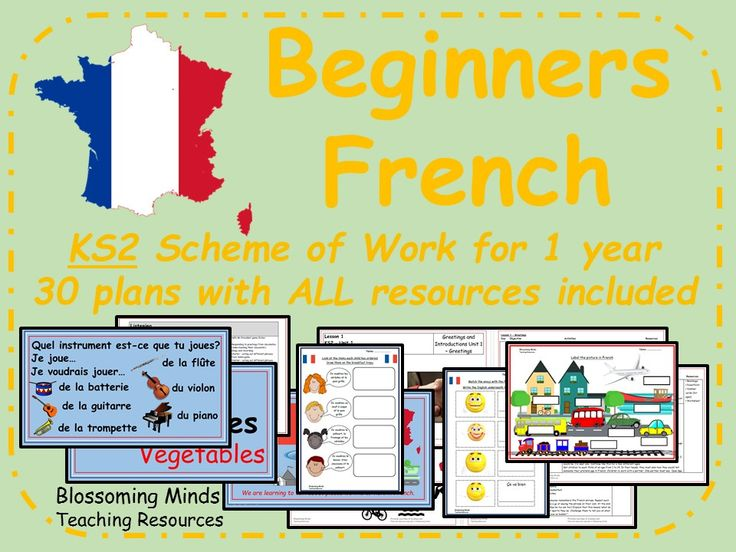 KS2 Beginners French Scheme of Work (1 year - 30 lessons)