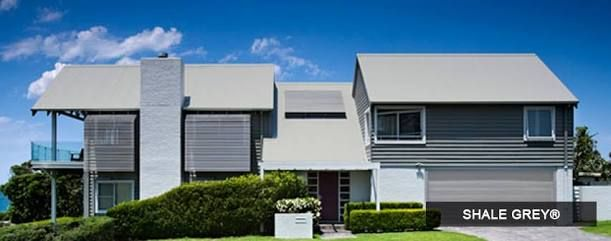 Image result for house with steel colorbond roof australia shale grey