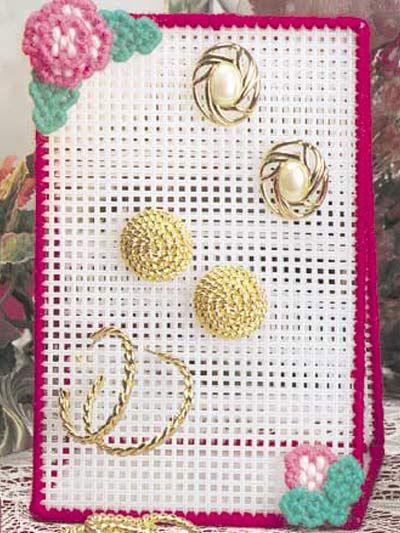 Plastic Canvas - Accessories - Decorations & Knickknacks - Earring Holder - #FP00023