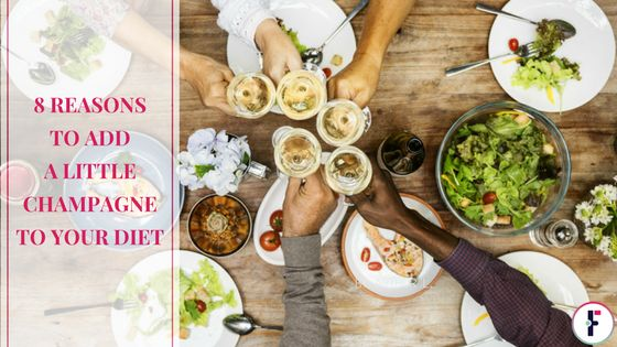 8 Reasons To Add A Little Champagne To Your Diet. Cheers! Until recently, champagne was typically consumed by the rich and famous or served on very special occasions, like on New Years Eve or at weddings. But consumption of all types of sparkling wines are on the rise over the