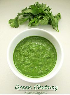 Green Chutney Recipe, a popular Indian dip, tastes yum on sandwiches and healthy too. #greenchutney #dips #sauces
