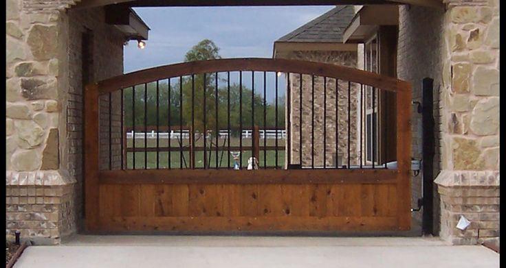 Wood Gate for Inspiring Iron Wood Gate Windham Nh and wrought iron gates designs…