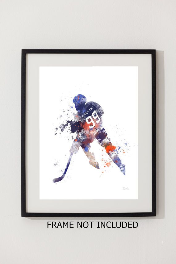 For sale direct from the artist   Original Art Print of Wayne Gretzky illustration created with Mixed Media and a Contemporary Design    Collectable fine art print Signed and dated on the back  FRAME AND MOUNT NOT INCLUDED Watermark will not be visible on your Print   Collectable artwork currently selling worldwide Ideal Gift  Printed onto High quality 280gsm Photographic paper Packaged flat and securely to ensure safe delivery  BUY MULTIPLE PRINTS AND ONLY PAY ONCE FOR POSTAGE   Worldwide…