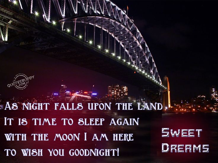 As night falls upon the land, it is time to sleep again with the moon I am here to wish you goodnight! Sweet dreams..