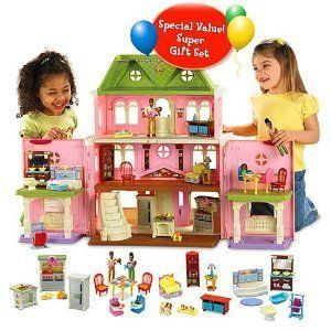 Fisher Price Dollhouse super set.