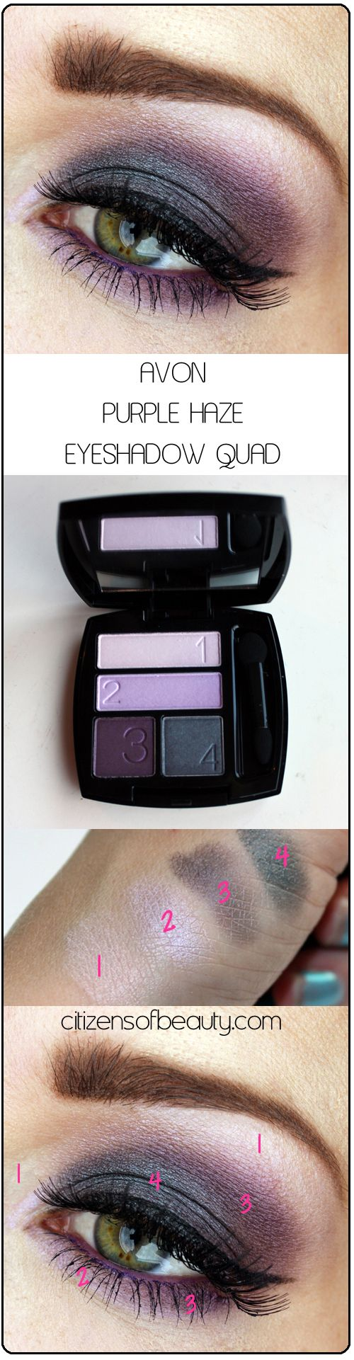 Avon's Purple Haze from the True Color Eyeshadow Quad. Photo from citizensofbeauty.com