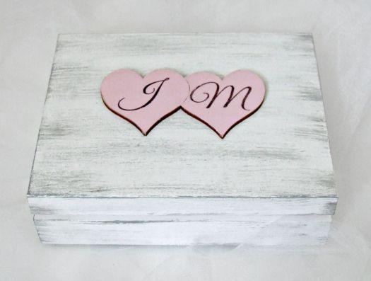 """Ślubne pudełko na obrączki """"SHABBY LOVE P"""""""