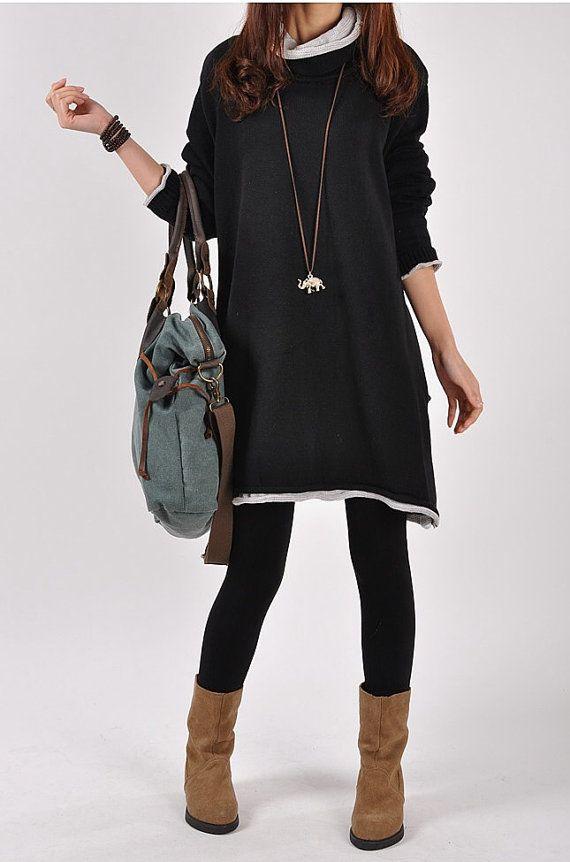 Casual Long Sleeve Sweater Dress Knitwear Shirt by deboy2000, $59.99