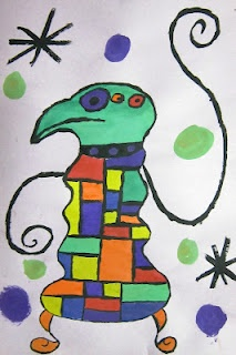 Spot of Color: 6th Grade Joan Miró Painting (Mini Project)