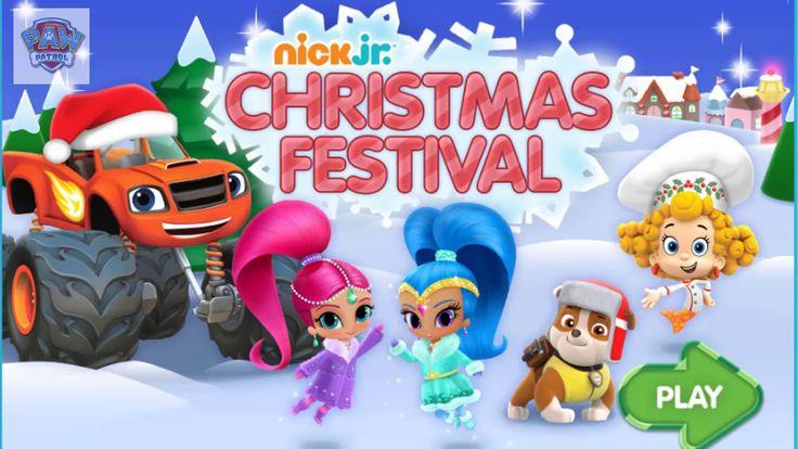 Christmas Festival | Paw Patrol full episodes| Free Preschool Games for Kids | Nick Jr. UK