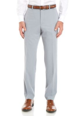 Savile Row Men's Stretch Classic Fit Trousers – Pearl Grey – 38 X 34