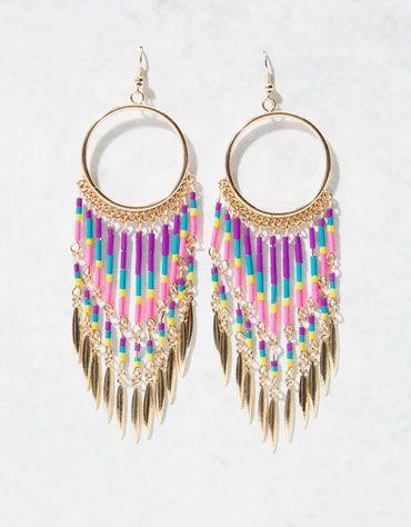Bershka México - Pendientes aro cascada colores $139