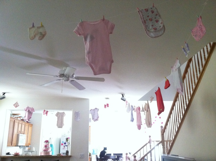 17 best images about my baby shower creations on pinterest for Baby clothesline decoration
