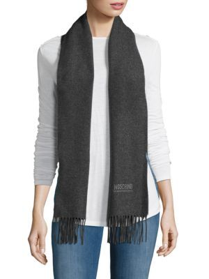 MOSCHINO Heathered Woolen Scarf. #moschino #scarf