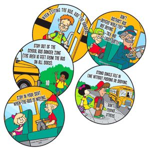 """Assorted Safety Message Stickers    These stickers feature an assortment of safety messages. Size: 2.5"""" round. 500 assorted stickers per roll."""