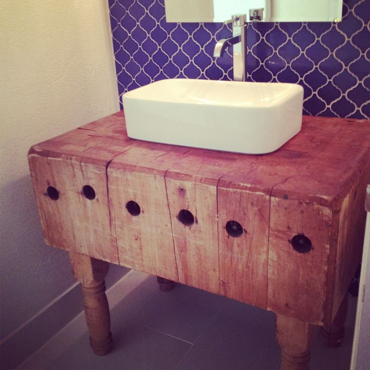 butcher block bathroom sink just finished our guest bathroom butcher block from 17564