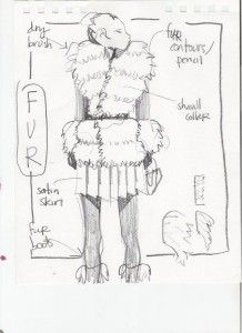 Laura Volpintesta design sketch fur  #online fashion illustration and design INTENSIVE immersion course experience! Check it out!! I'm here for you. $750 tuition for a limited time includes your art supplies for fashion designers kit shipped to you. 15 week online semester created by Parsons fashion faculty of 17 years.