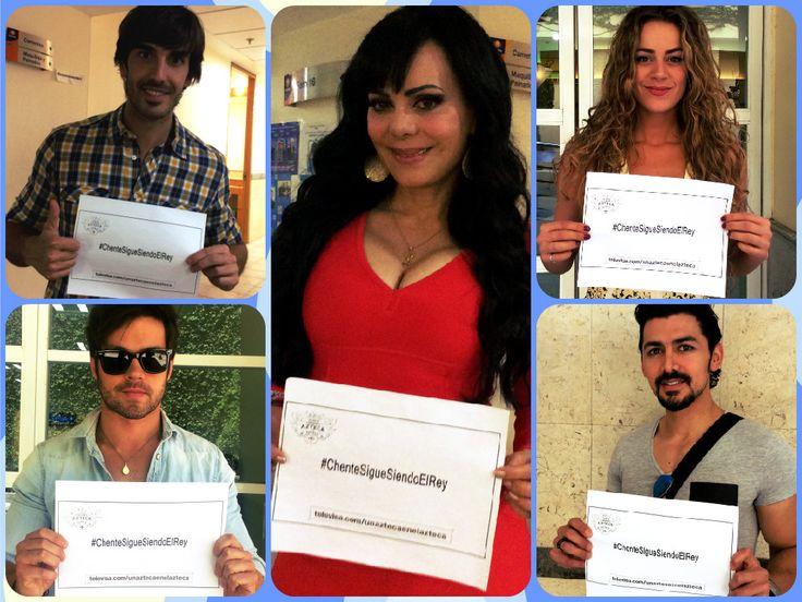 Actores, actrices y cantantes se preparan para el último concierto de Vicente Fernández, Un azteca en el Azteca, es por eso que le demuestran su cariño y te piden que te unas en redes sociales con el hashtag #ChenteSigueSiendoElRey ¡Checa las imágenes exclusivas!
