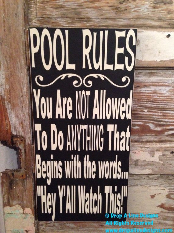 Pool Rules - Big DIY Ideas
