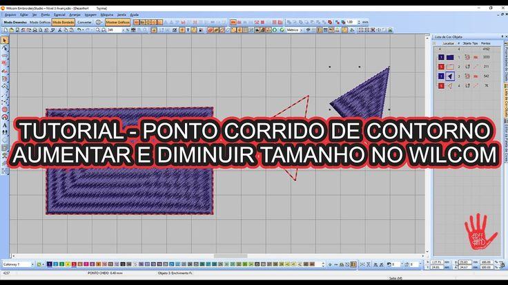 TUTORIAL PONTO CORRIDO DE CONTORNO, AUMENTAR E DIMINUIR TAMANHO NO WILCOM
