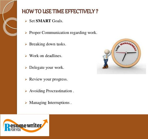 Time management is the key to Efficient Working #TimeManagement - time management resume