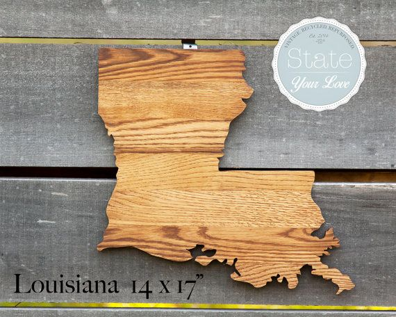 44 best State Your Love - Oversized State Shapes in Oak images on ...