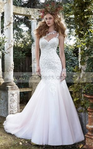 Mermaid Sleeveless One Shoulder Zipper Wedding Dresses fqcf1001--Hodress