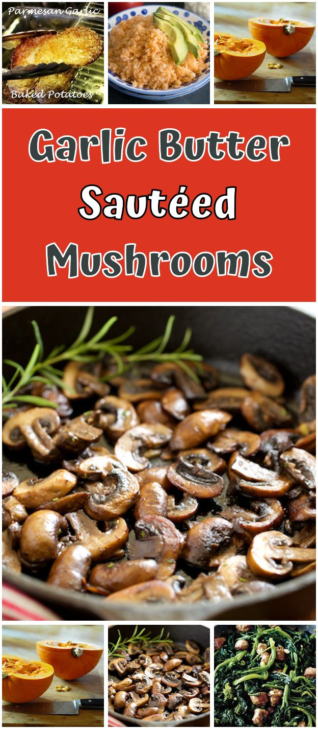 Mushrooms sautéed in butter with garlic. Mushrooms sautéed in butter with garlic – They were …   – Gluten free Recipes