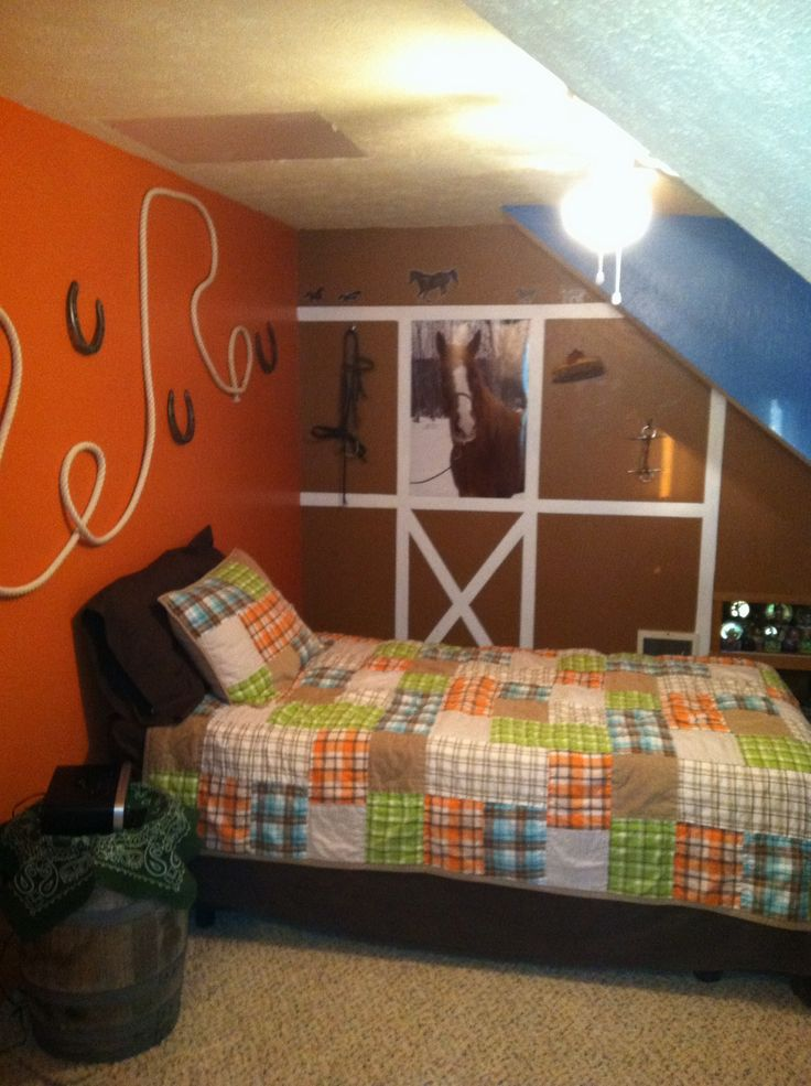 Country girl horse themed bedroom kid bedroom ideas for Girls murals