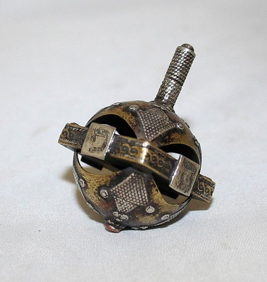 Sevivon / Dreidel Sterling Silver Turkmenistan 1930s