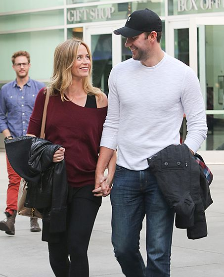 Cutest! Parents-to-be Emily Blunt and John Krasinski look so happy hand-in-hand in L.A.