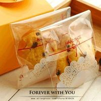 2014 FREE SHIPPING bowknot lace bakery food bag for cookie chocolate biscuit christmas packaging bags 100pc/lot 10*11+4cm