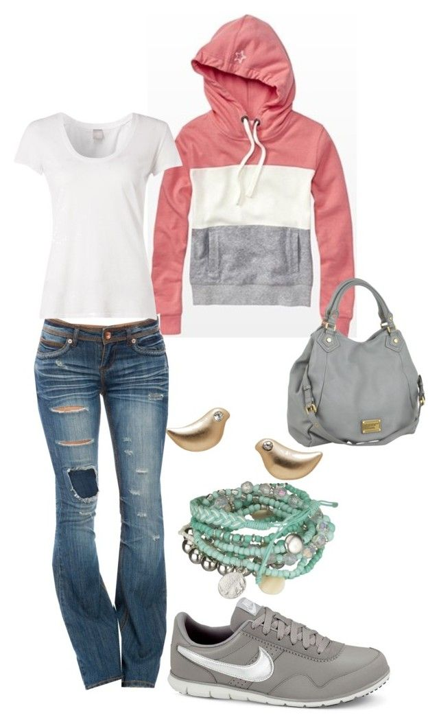 """""""comfy"""" by straight-arow ❤ liked on Polyvore featuring Dollhouse, Bobi, NIKE and Marc by Marc Jacobs"""