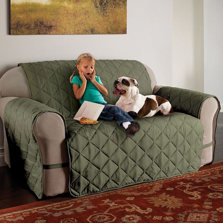 Innovative Textile Solutions Microfiber Ultimate Sofa Protector, Green