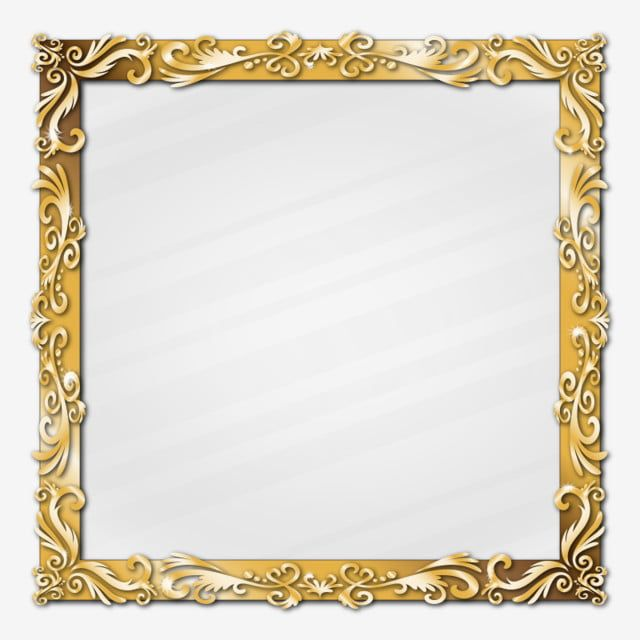 Golden Classic Ornament Picture Frame Border Effect Border Clipart Rectangle Golden Png And Vector With Transparent Background For Free Download Clip Art Frames Borders Frame Clipart Picture Frames