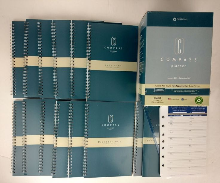 Franklin Covey Compass Planner Monarch Wire-Bound Jan-Dec 2017 Daily Planners #FranklinCovey