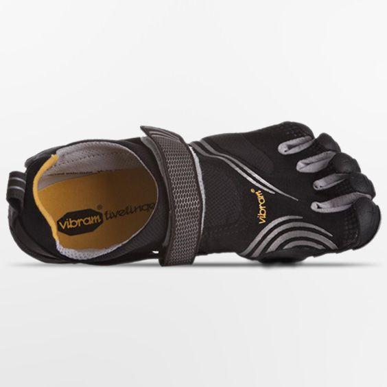 Vibram Fivefingers Komodosport Mens Shoes Black Silver 44 EU