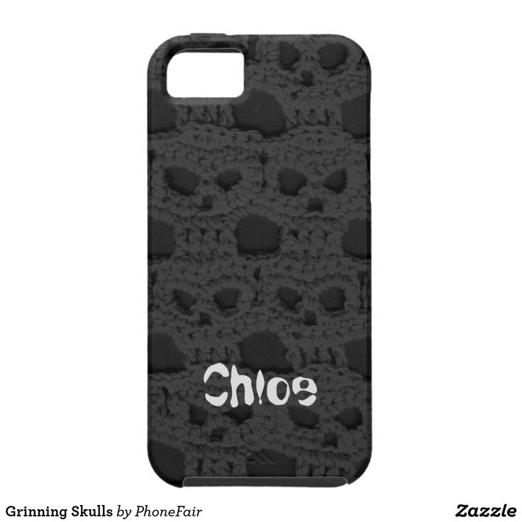 Grinning Skulls iPhone SE/5/5s Case - personalize with your name #black #goth