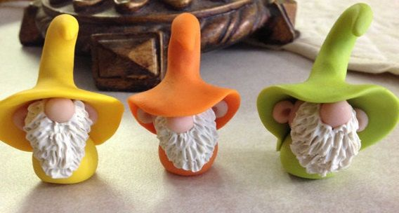 Pickle Hollow Gnomes Polymer Clay by Whimsybydesign1 on Etsy, $8.00