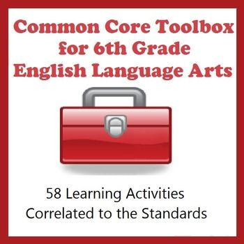 A Common Core Lifesaver: Printables for nearly all the 6th grade ELA CCSS. Can be used with any curriculum. $5.99