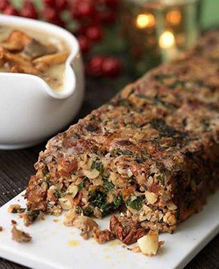 christmas recipes - Nut Roast with Wild Mushroom Gravy