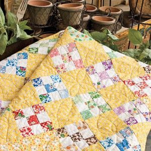 this looks like the one i am in the early stages of making. only i used all colors-so maybe plain squares. km
