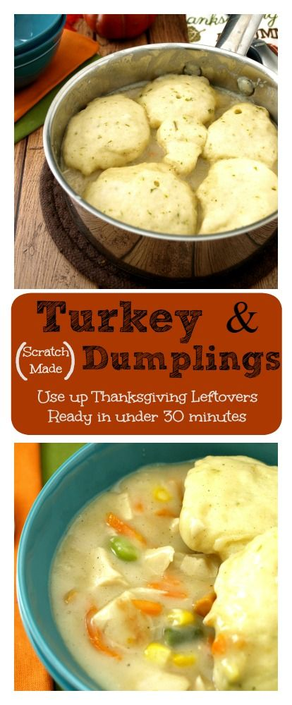 Turkey and Dumplings Soup is an easy way to use up leftover turkey from a holiday meal.