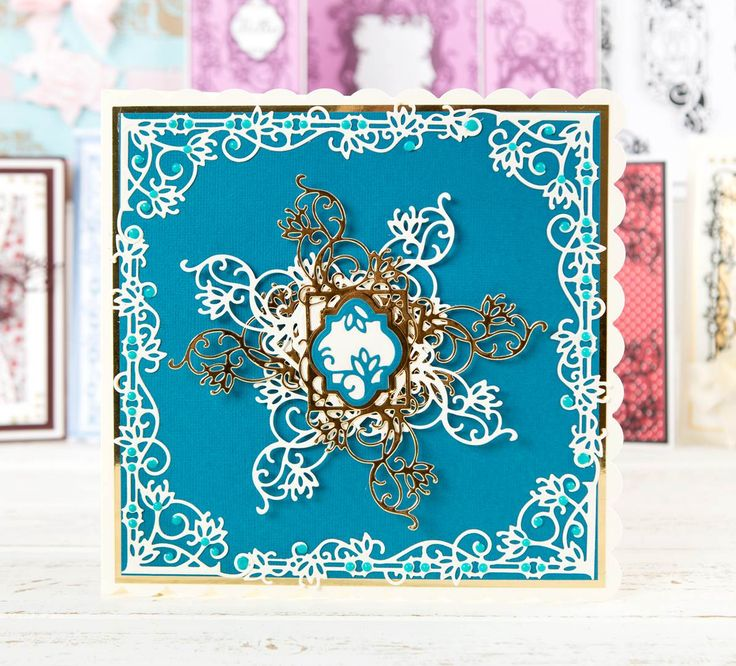 Perfect for Christmas or a special occasion! Made using the @tonicstudiosuk Mini Decorative Die Collection. Click 'Visit Site' above to shop now. / papercraft / cardmaking / scrapbooking
