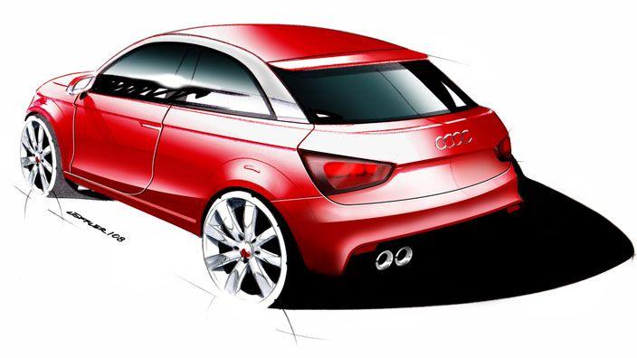 #AudiA1 #Audi #design #sketch #red