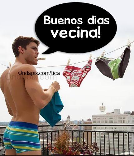 Buenos dias vecina #sexy #chicos
