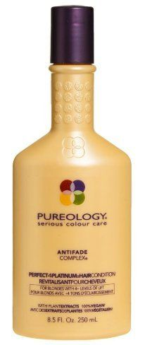 Pureology Perfect 4 Platinum Hair Condition - 33.8 oz / liter by Pureology. Save 23 Off!. $47.15. Pureology Perfect 4 Platinum Hair Condition is an intense daily conditioner that moisturizes and detangles while enhancing brightness and shine. Provides internal and external strenghtening to damaged blonde hair. How to Use: Apply to clean, damp hair. Massage gently into hair and scalp. Wait 1-2 minutes. Rinse.