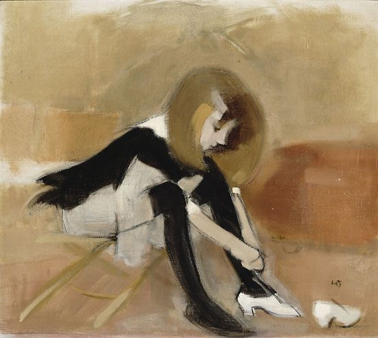 Helene Schjerfbeck: Dancing shoes (1939 or 1940), Private collection.  Photo: Finnish National Gallery