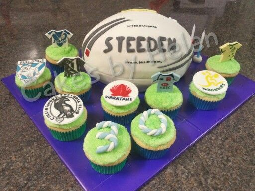 Aussie Football birthday cake. #footie #NRL #AFL #collingwood #waratahs #wallabies #doggies #30today #happybirthday
